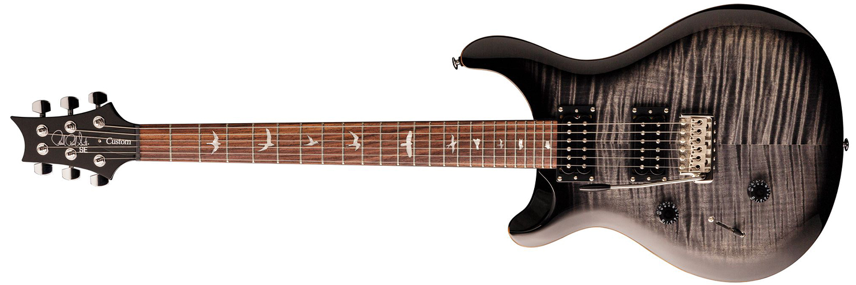 PRS SE Custom 24, Left Handed, Charcoal Burst