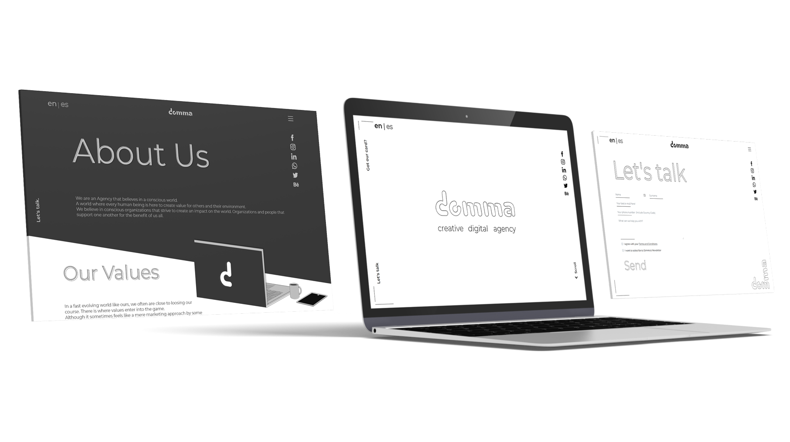 Website Design Mock-up Domma Agency Project