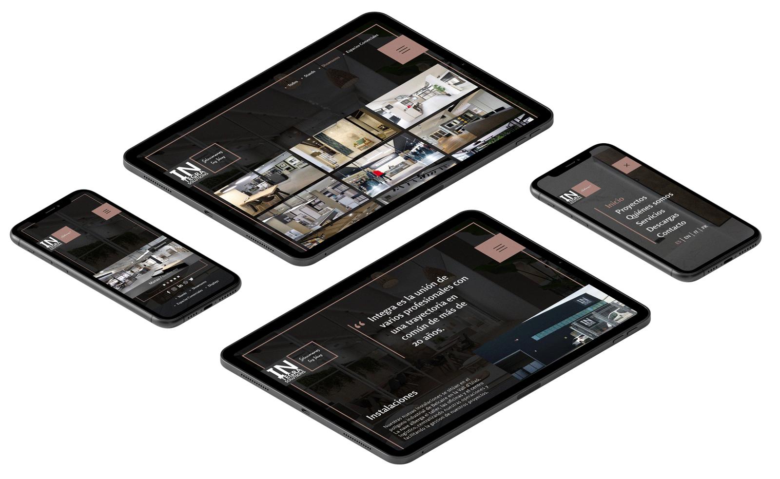 Website Design Mobile Mock-up Integra Solutions Project
