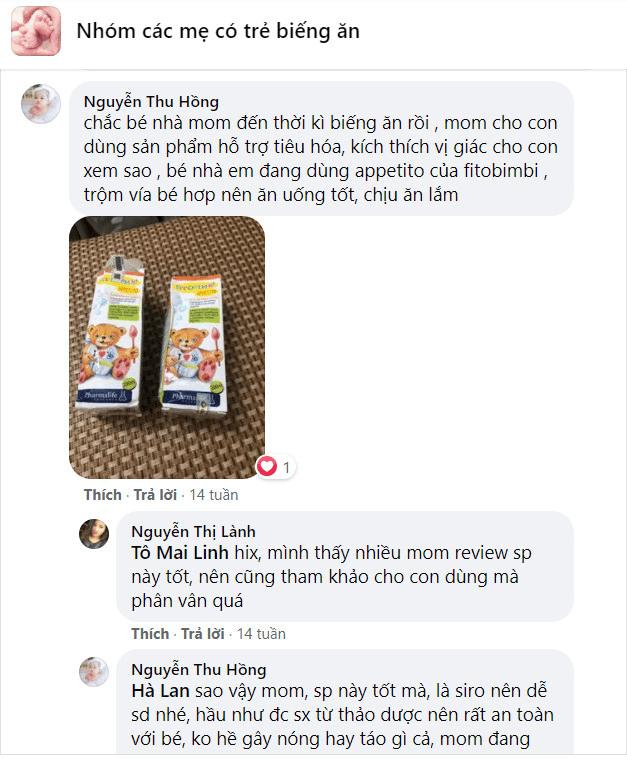 review appetito bimbi