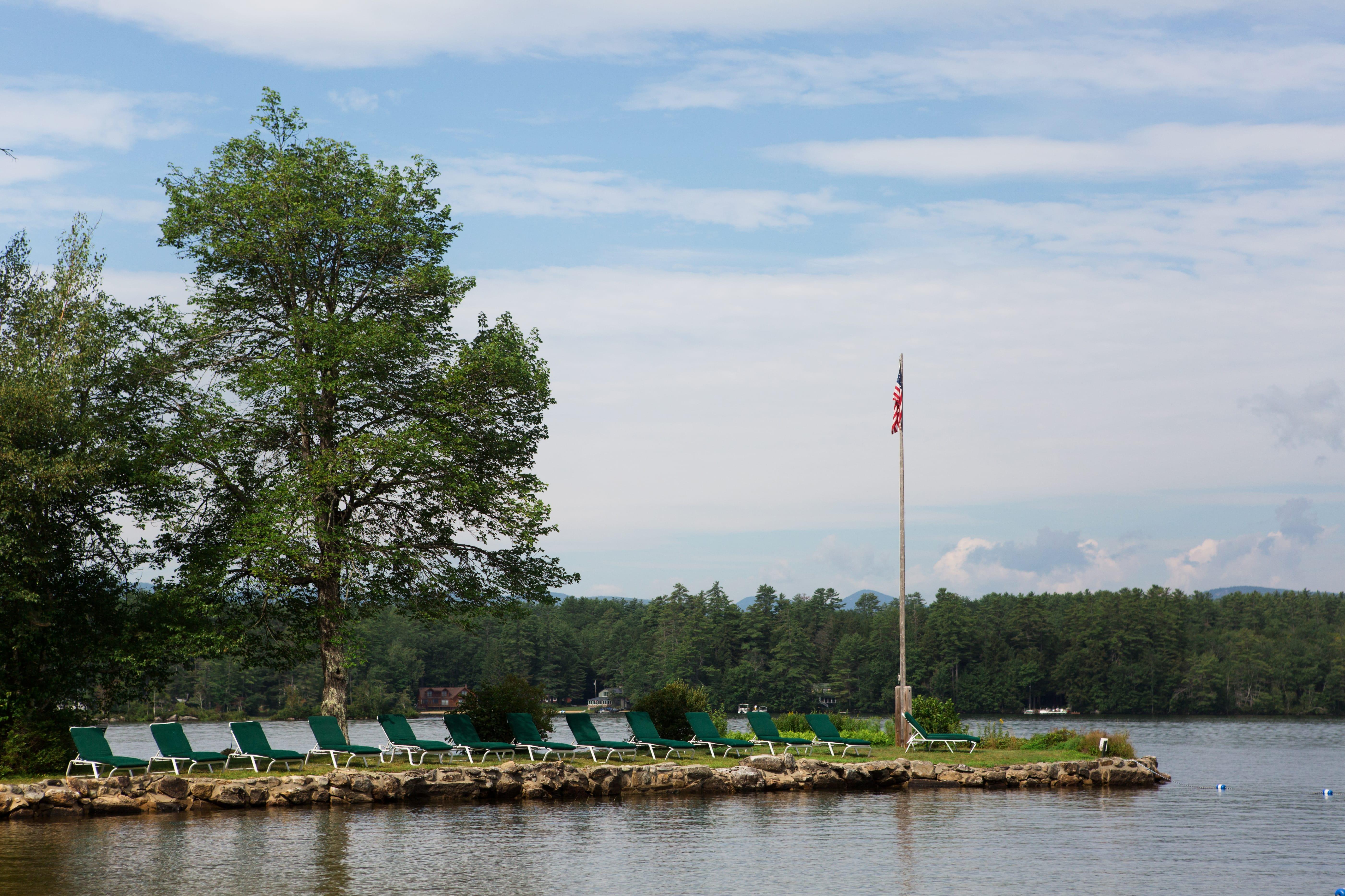 Quisisiana lake and flag pole