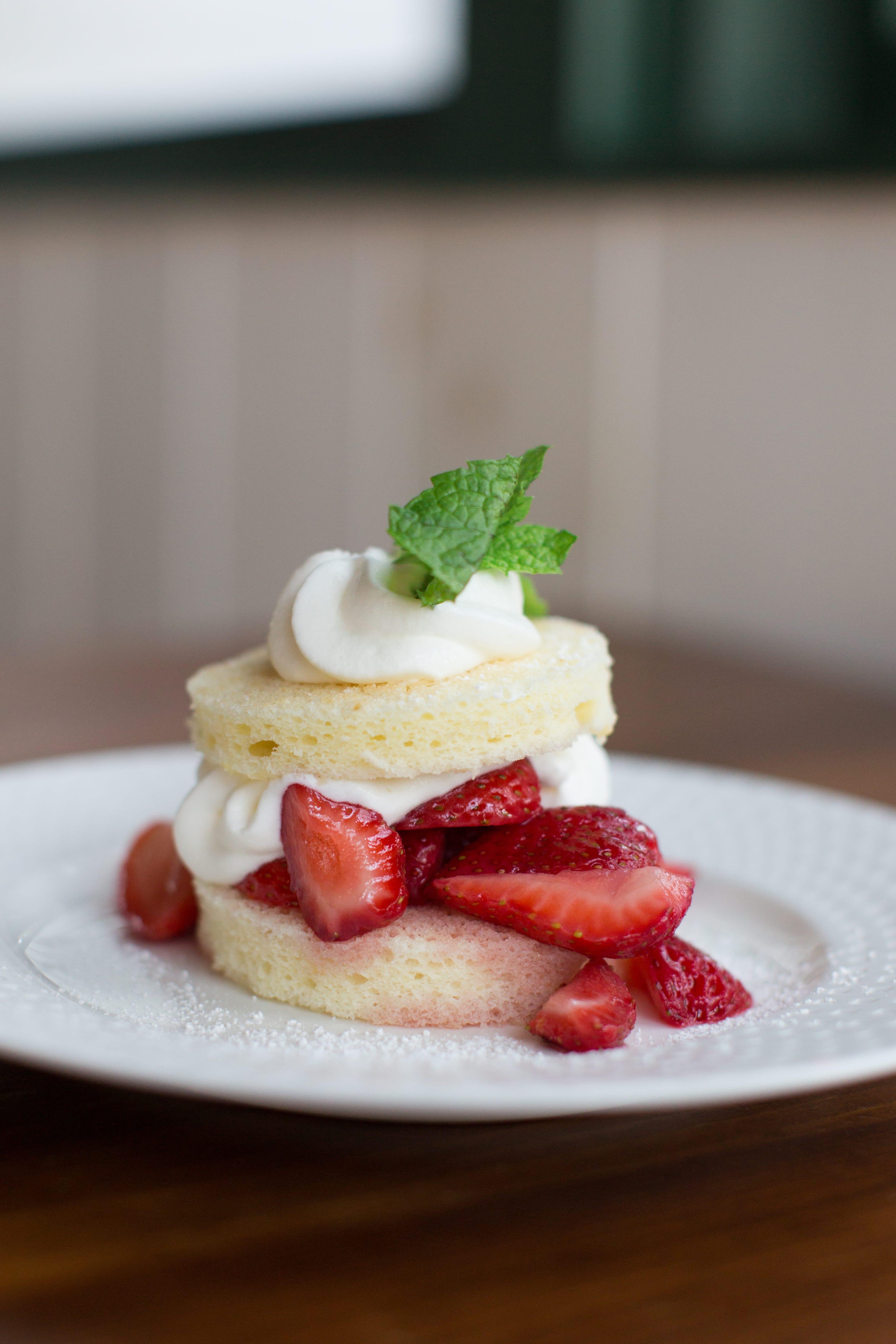 Strawberry shortcake desert