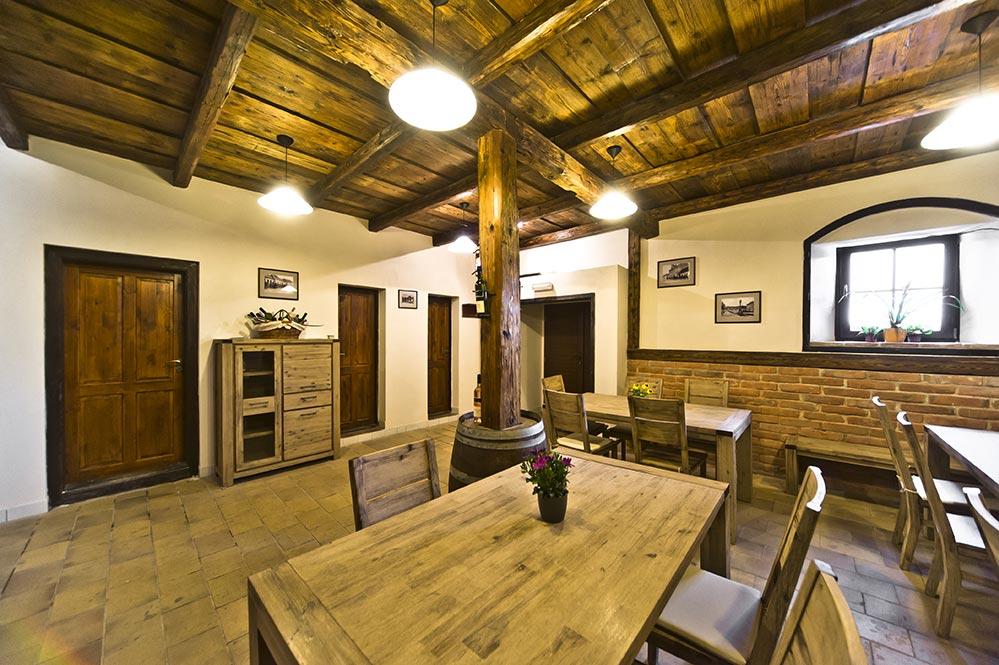 Degustační místnost, Pergen - rodinné vinařství v obci Perná, u Mikulova