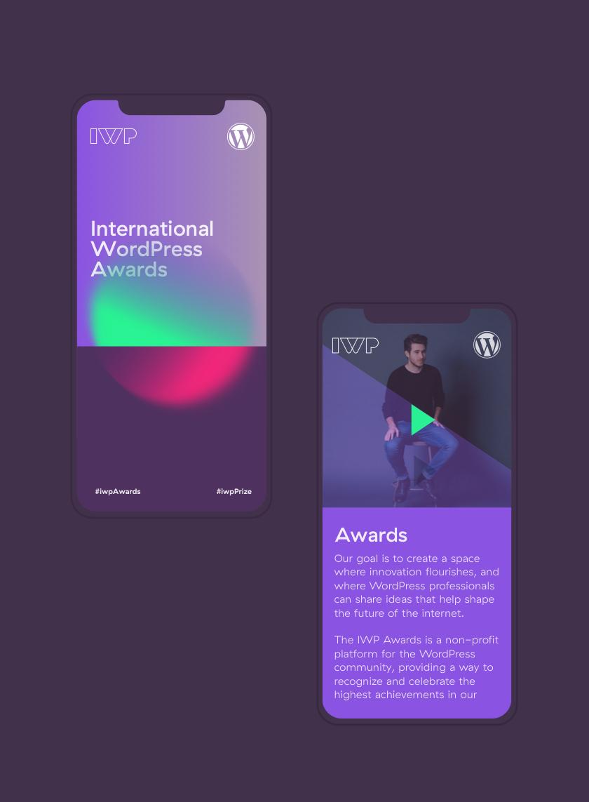 IWP mobile website designs