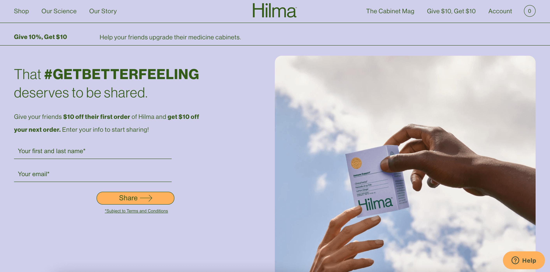 Hilma referral, by Conjured