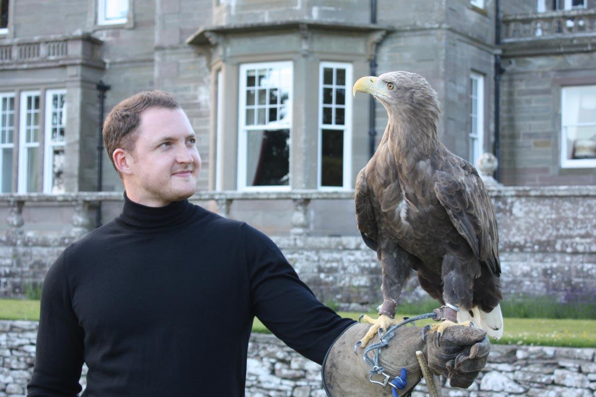 Falconry Turin Castle Scotland