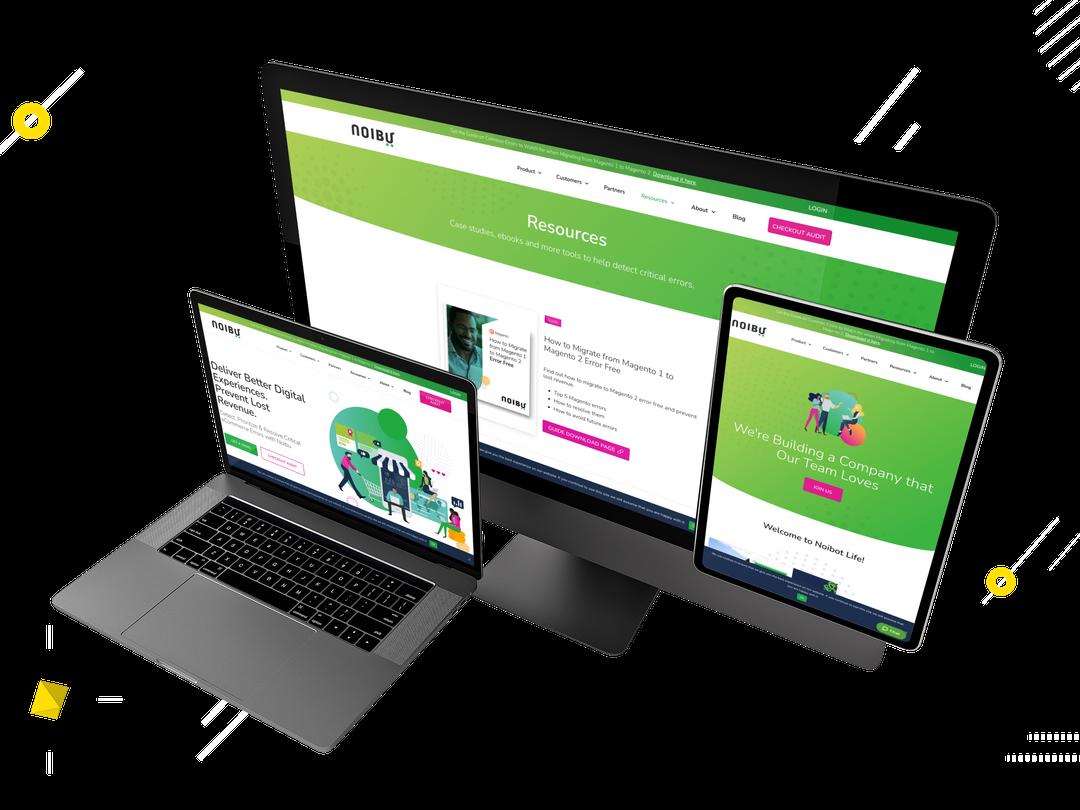 Noibu website mockup created by WebSuitable