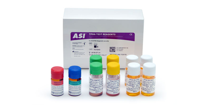 TPHA Test for Syphilis. Used as a confirmatory test.