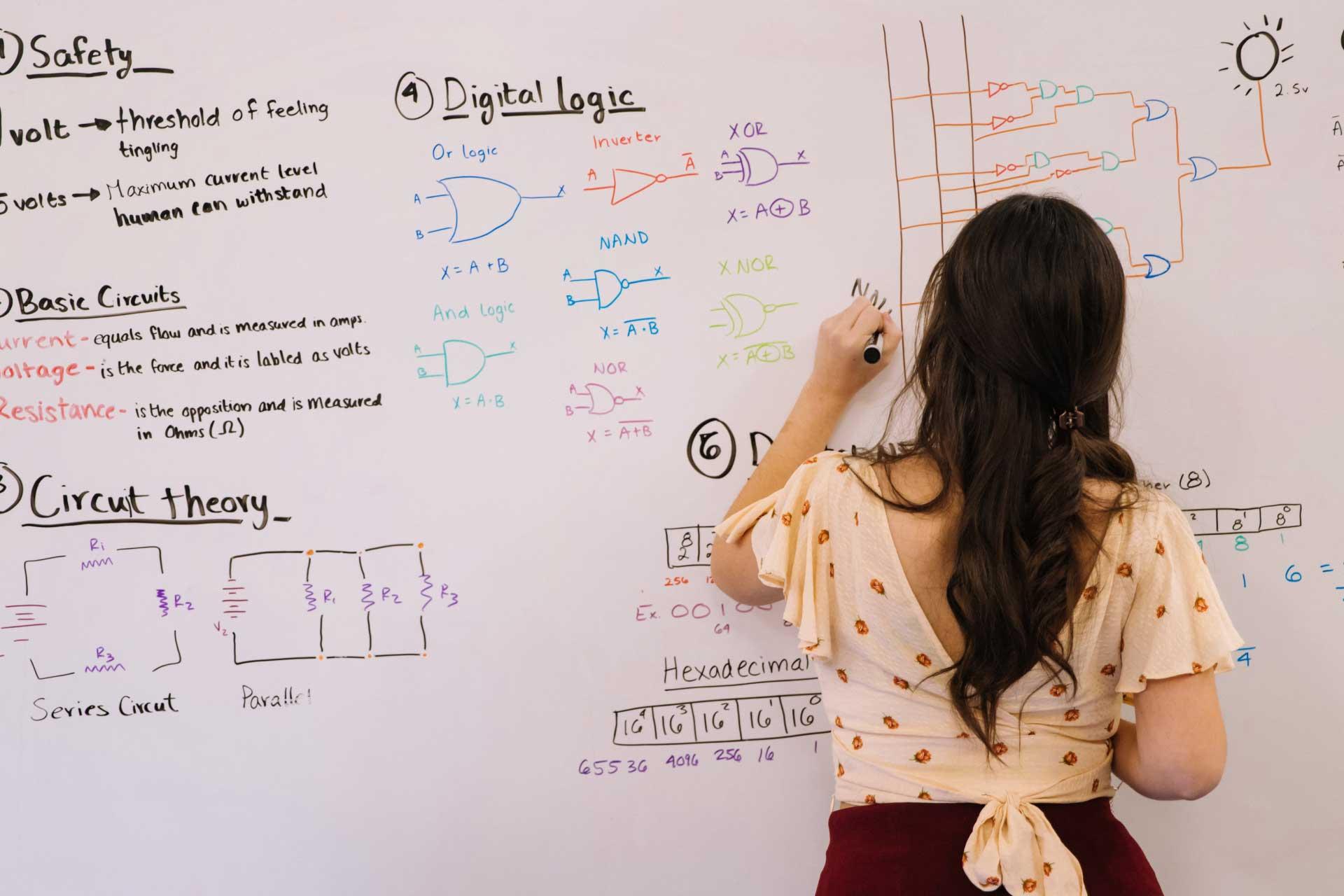 Young Girl Doing Math