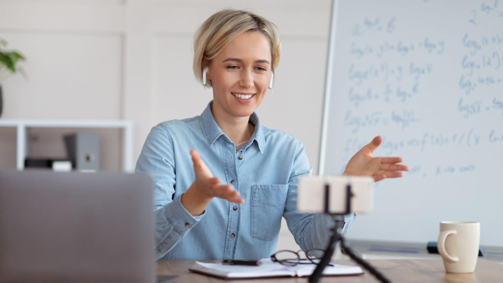 online math tutoring session