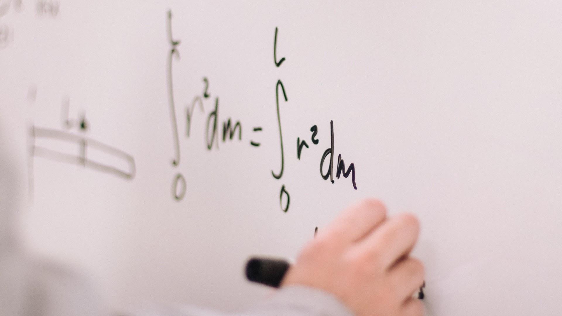 student answering mathematics