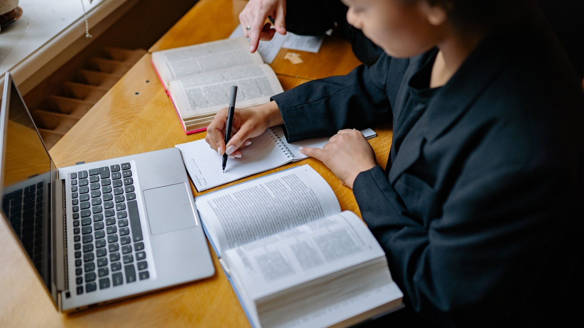 female student getting tutored
