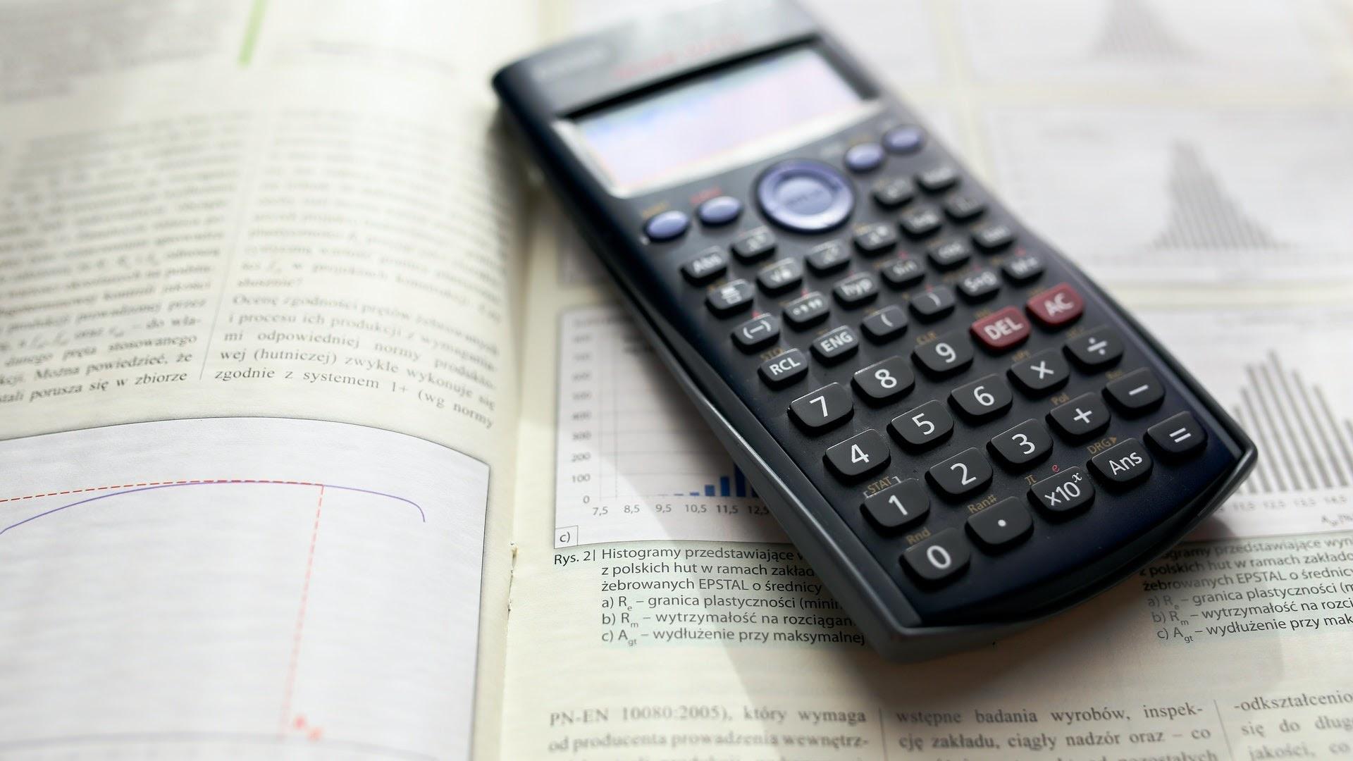 Calculator for math test