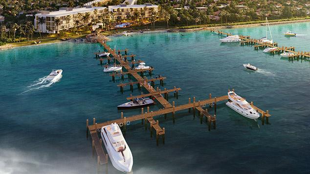 Perspective from Harbor Island Beach Club's Marina