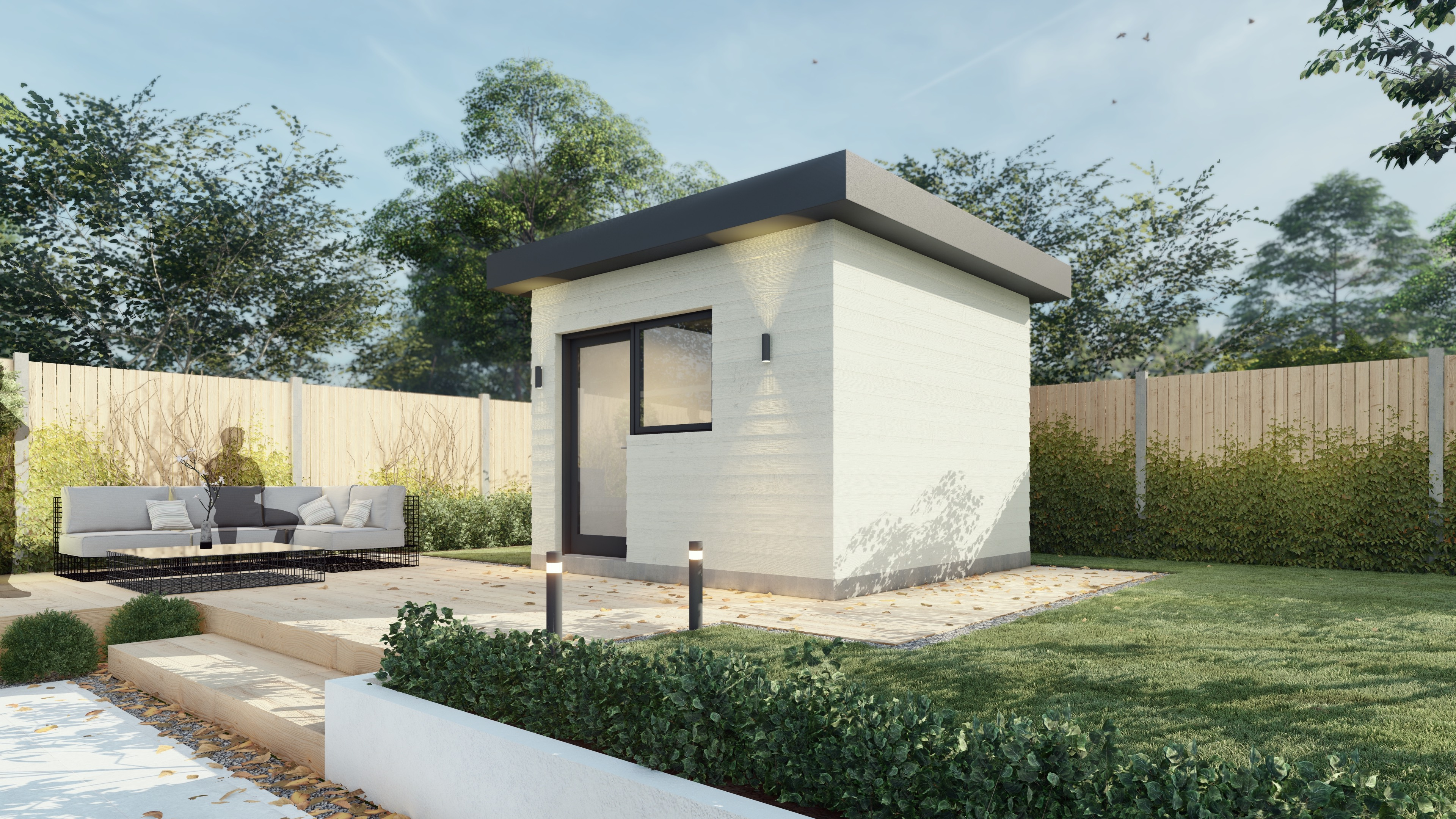 Ramour office unit render side view