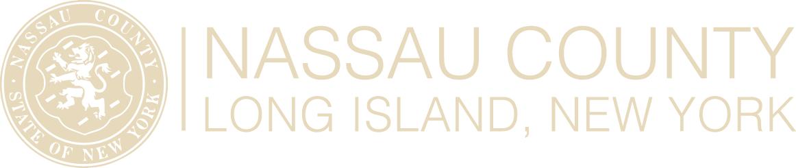 Nassau County Long Island NY Logo with Crest