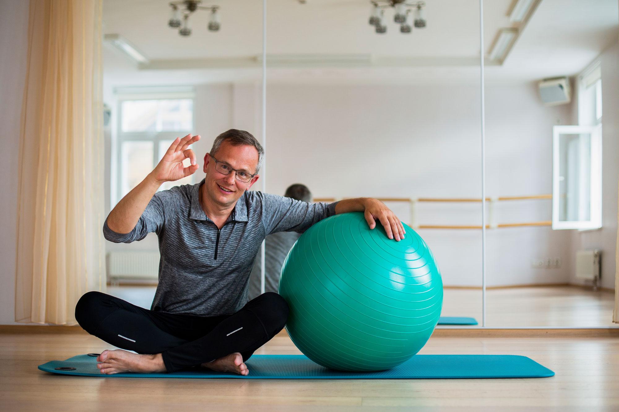 Older Man Mat Pilates