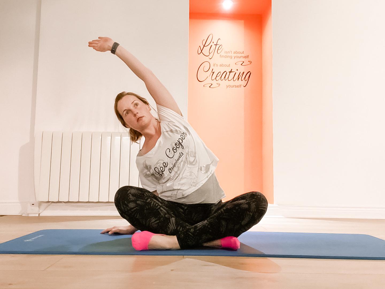 laura doing mat pilates