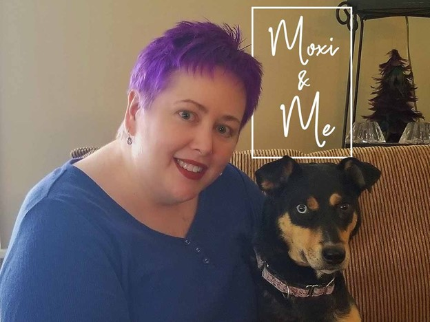 Tricia and her dog, Moxie