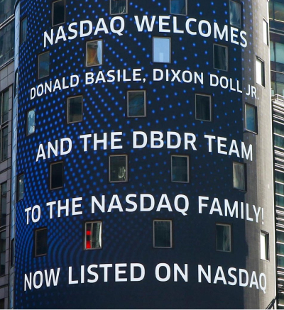 DBDR on the NASDAQ, Times Square NYC