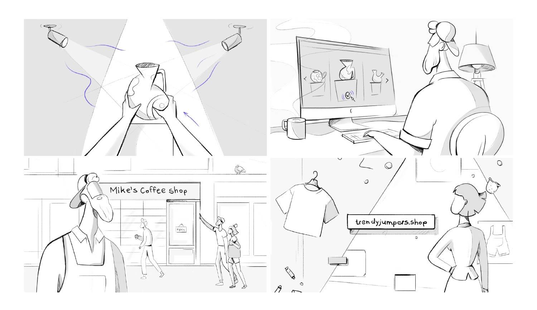 DotShop video sketches
