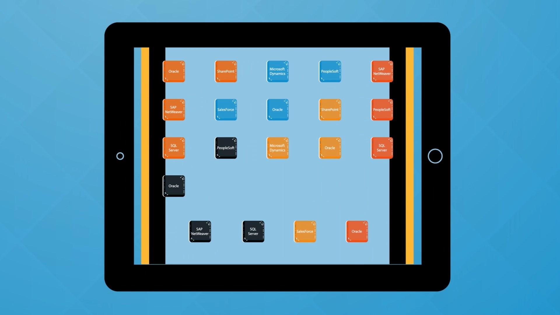 app on tablet animation