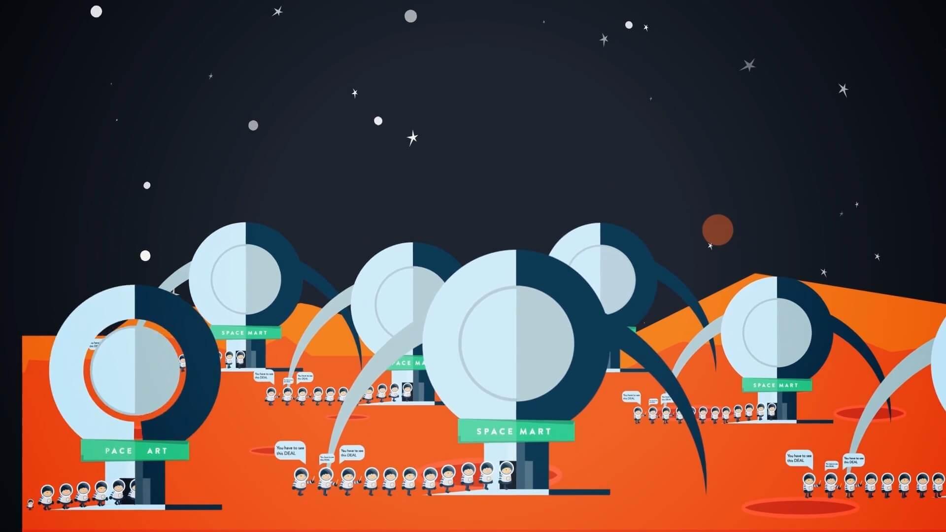 Running Lean space scene
