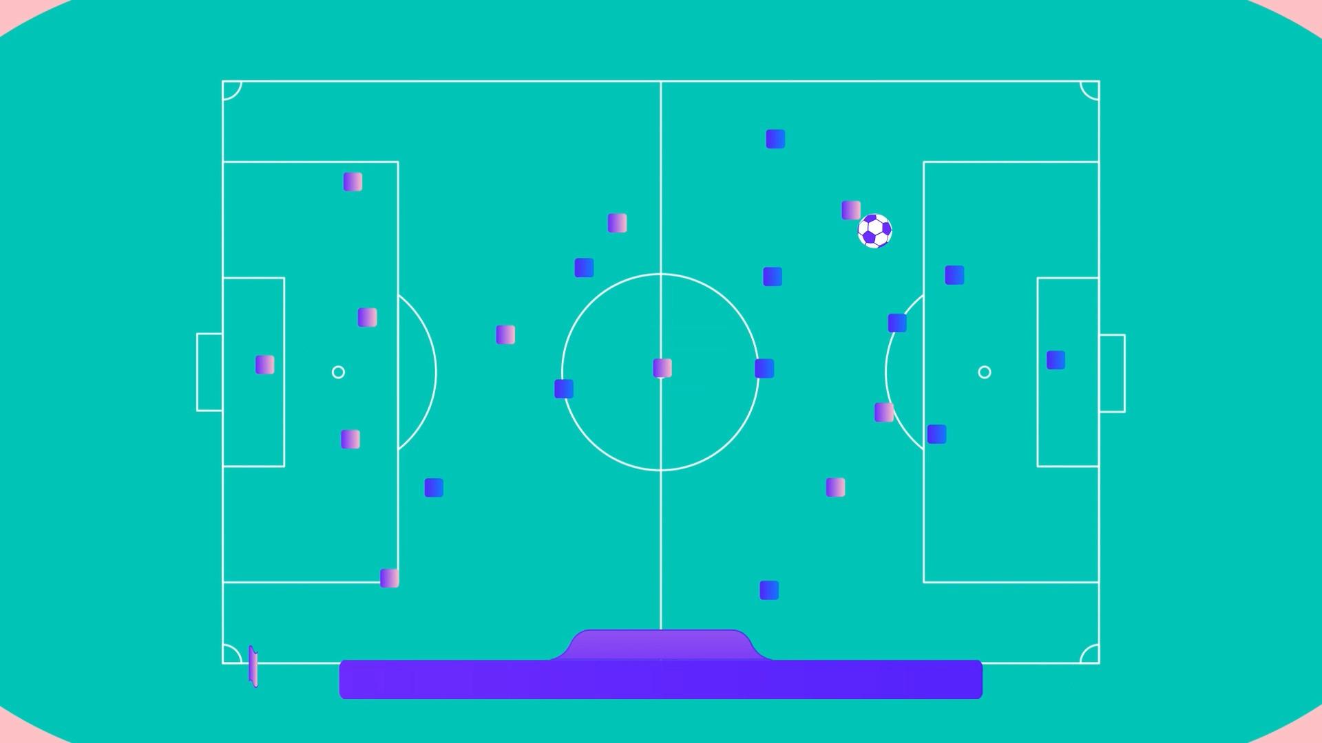 Football field animation
