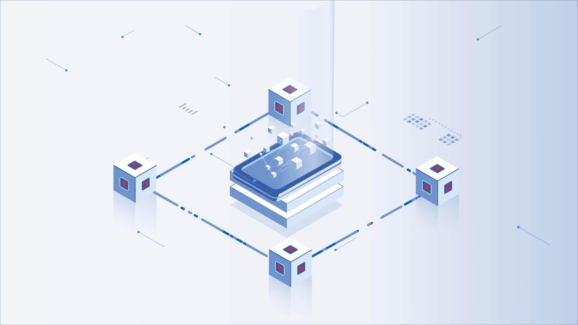 blockchain animation