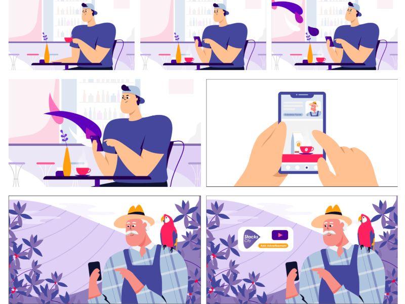 explainer video illustrations