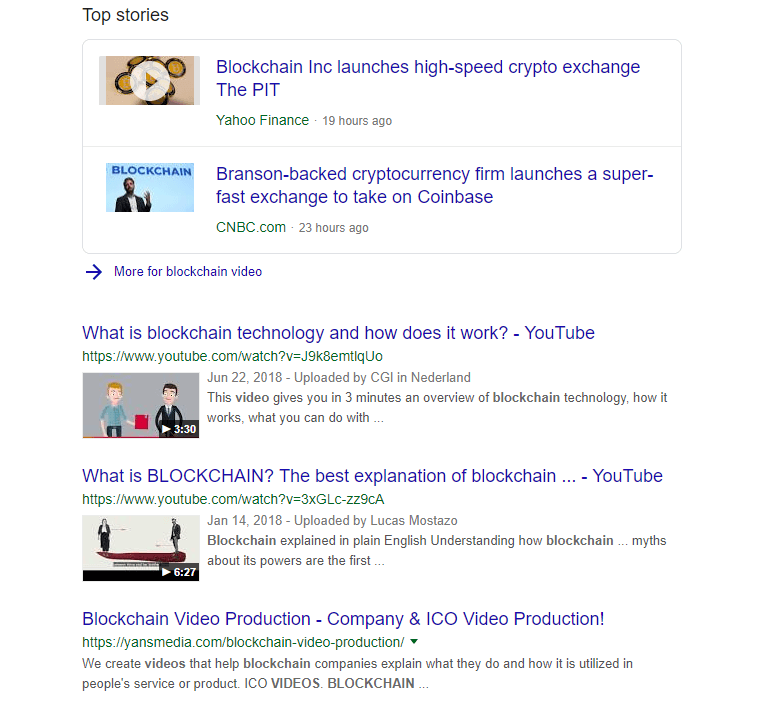 blockchain video google