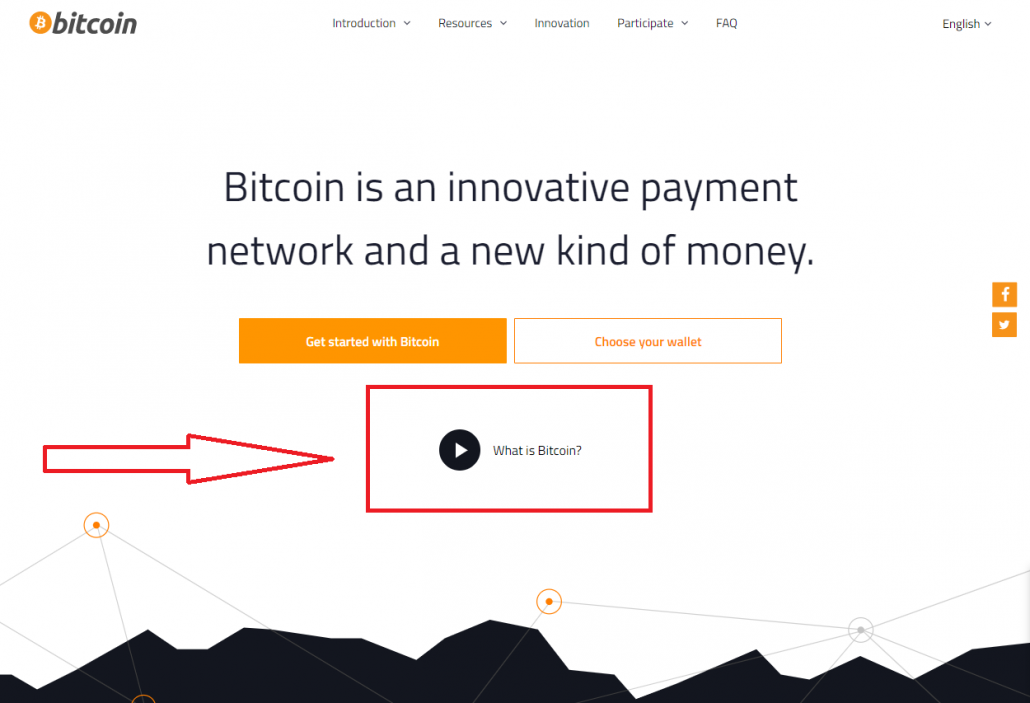 video on bitcoin homepage