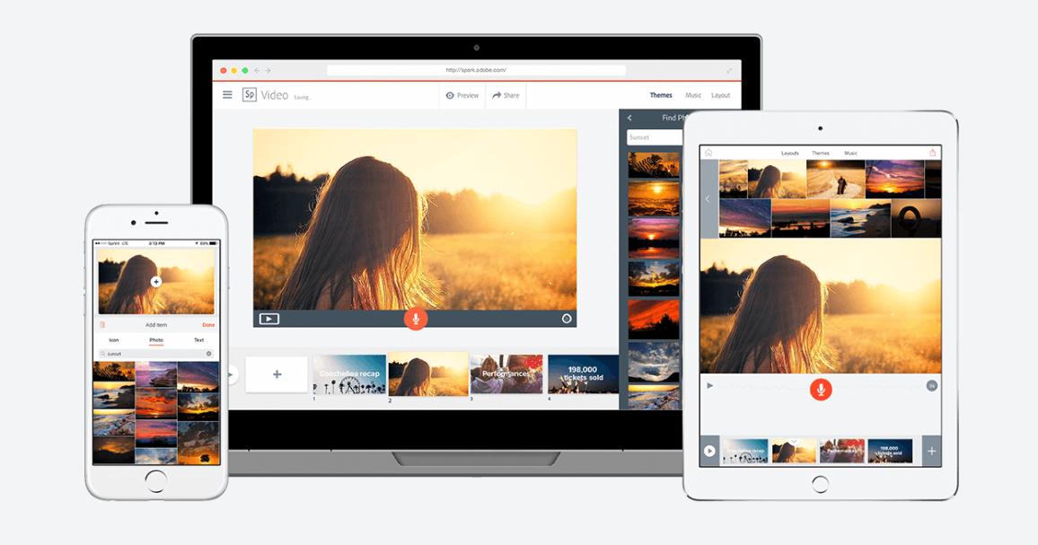 Adobe Spark online editor