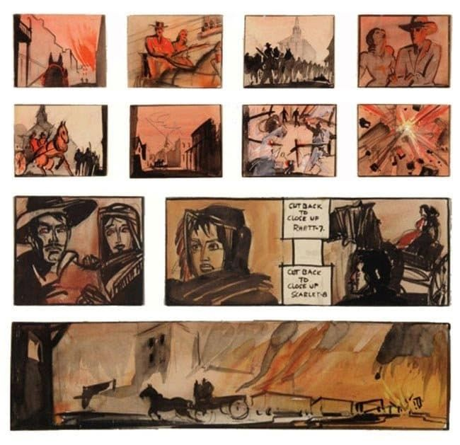 gone with the wind storyboard