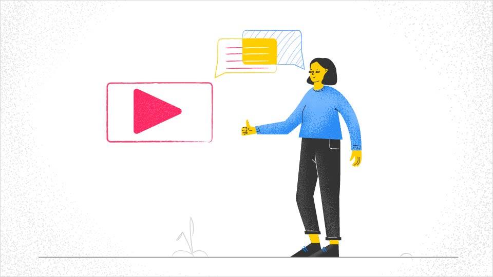 video starts conversation