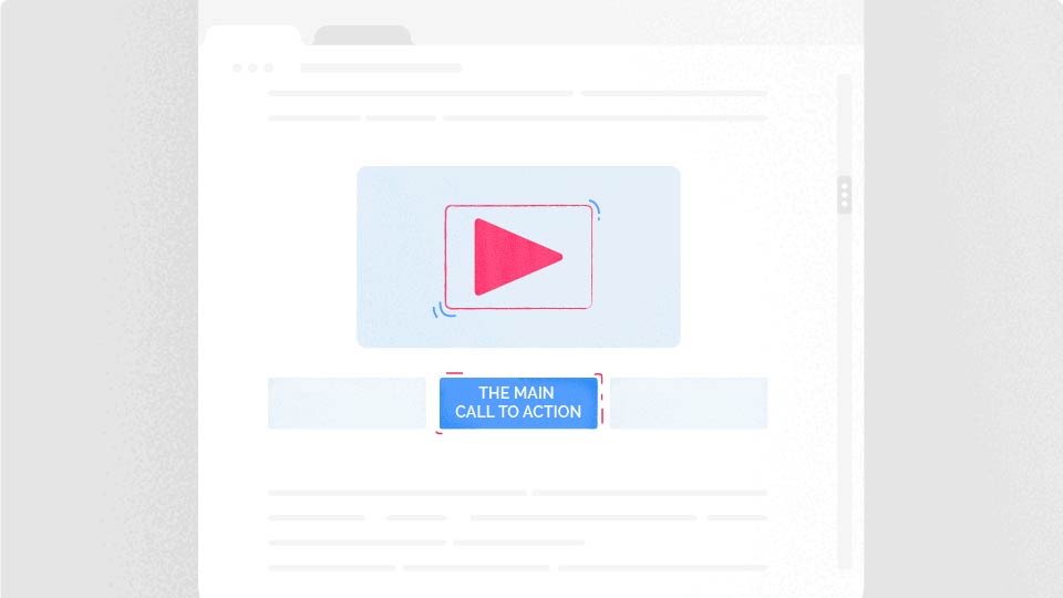 call to action button with video