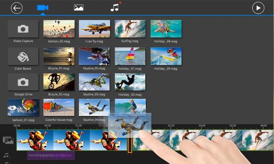 video editing app  PowerDirector