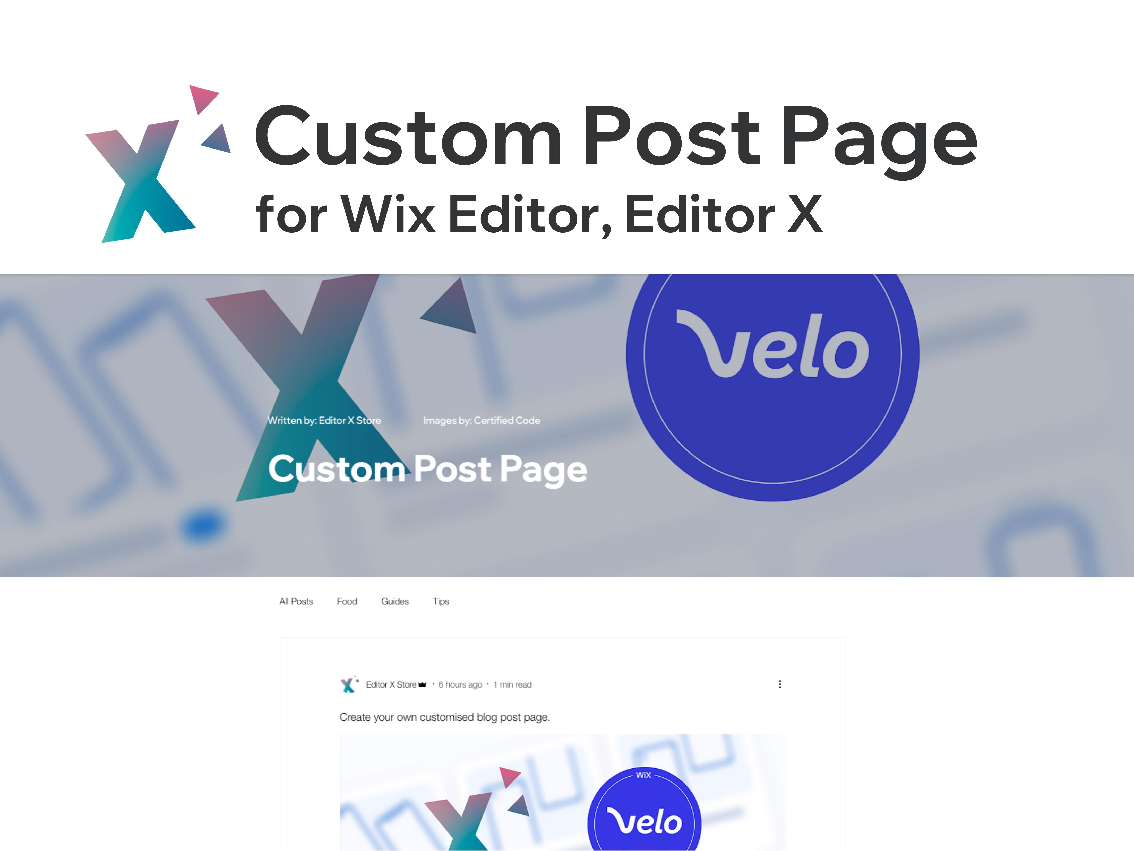 Custom Post Page