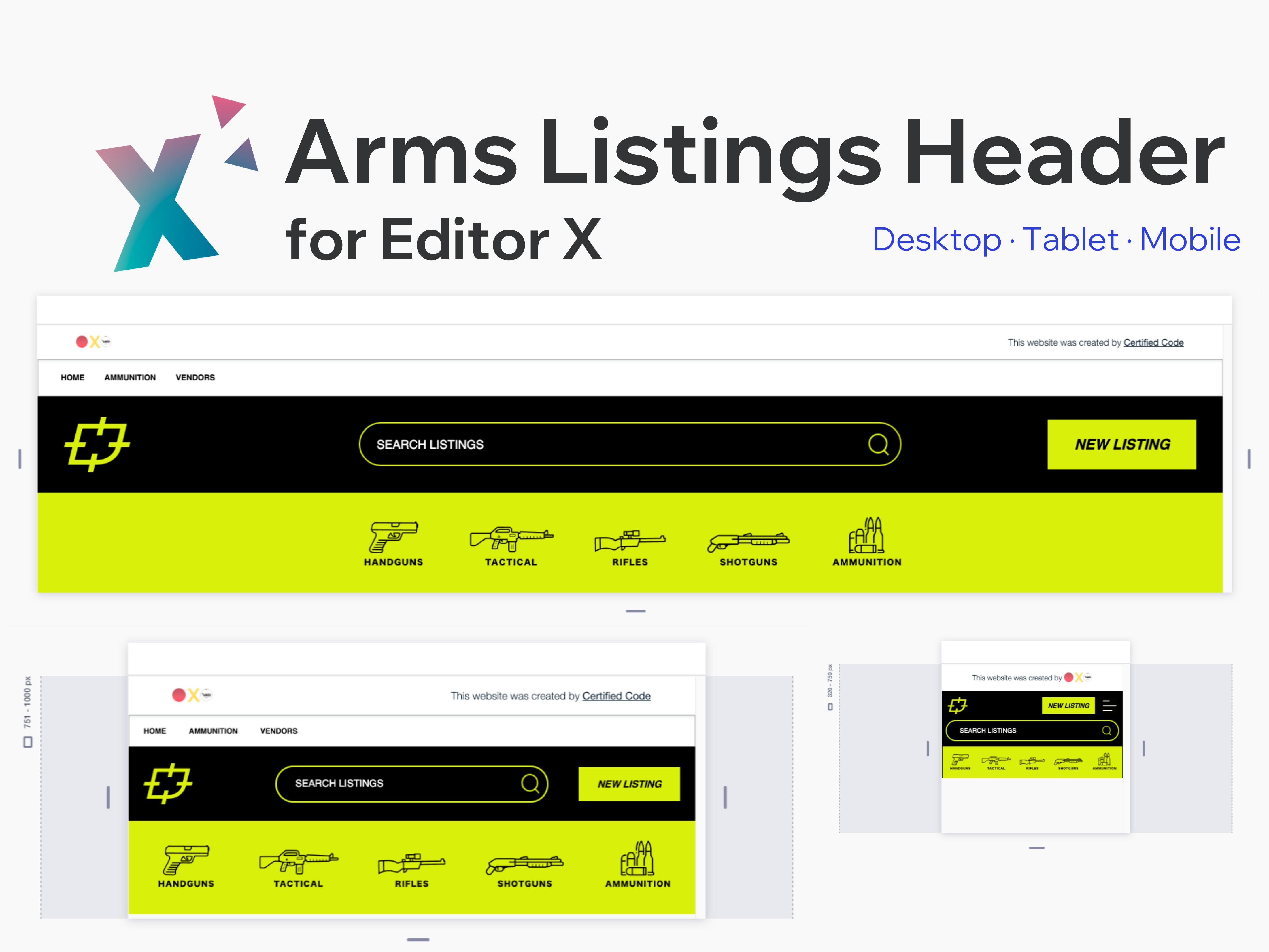 Arms Listings Header