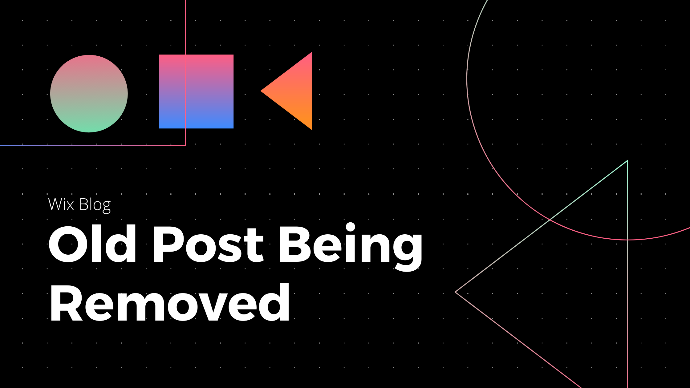 Wix Blog: Old Post Disappeared - Solution