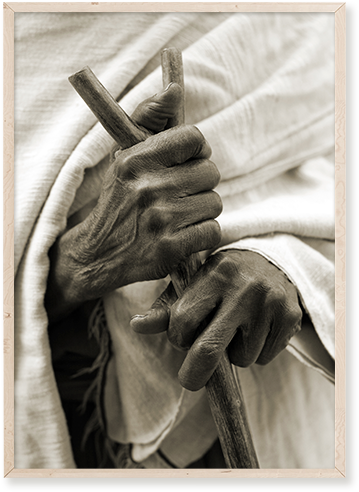 El Libro Amarillo - cuadro en acrílico Hands, Future Art