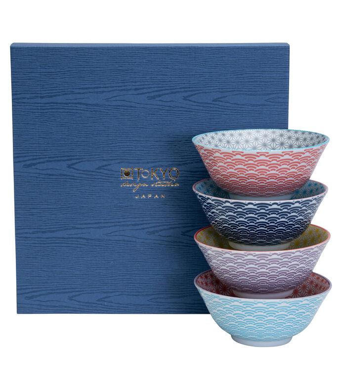 El Libro Amarillo - Set 4 Bowls Cereal Star Wave Multidiseño Geométrico CNB