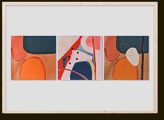 El Libro Amarillo - lienzo pino abstracto, ITEM International