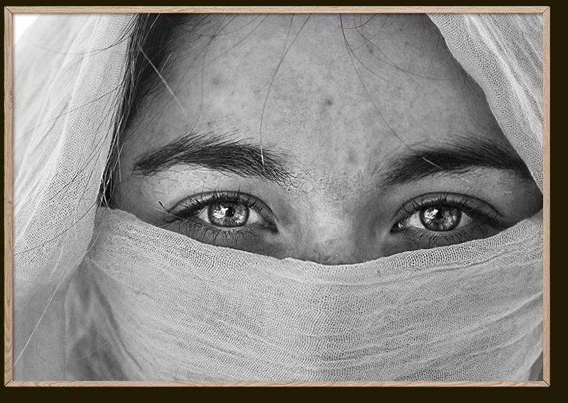 El Libro Amarillo - cuadro decorativo Eyes en acrílico, Future Art