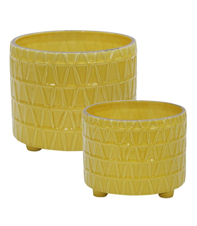El Libro Amarillo - Set 2 Macetas para Esencia en cerámica LIV & SKYE DECO