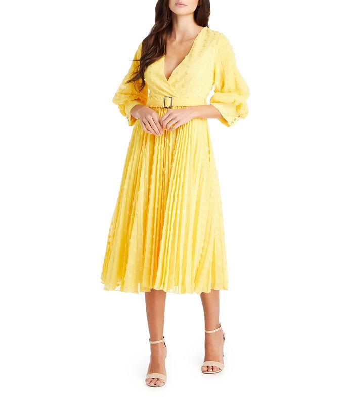 El Libro Amarillo - Vestido midi con lunares Mujer REINA DIAZ
