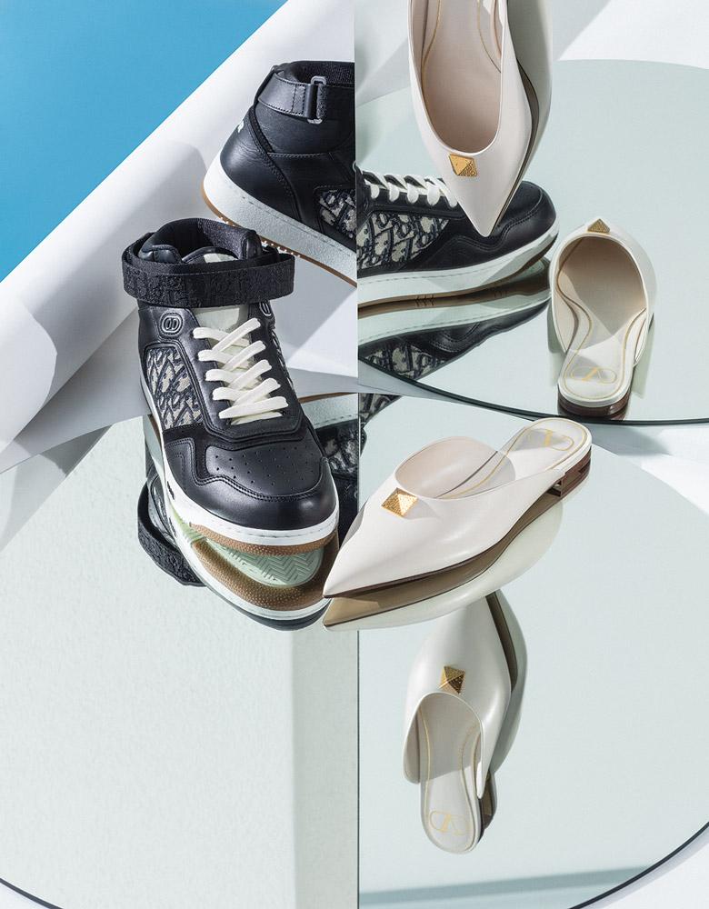 El Libro Amarillo - tenis Dior Homme _ zapatos roman stud Valentino