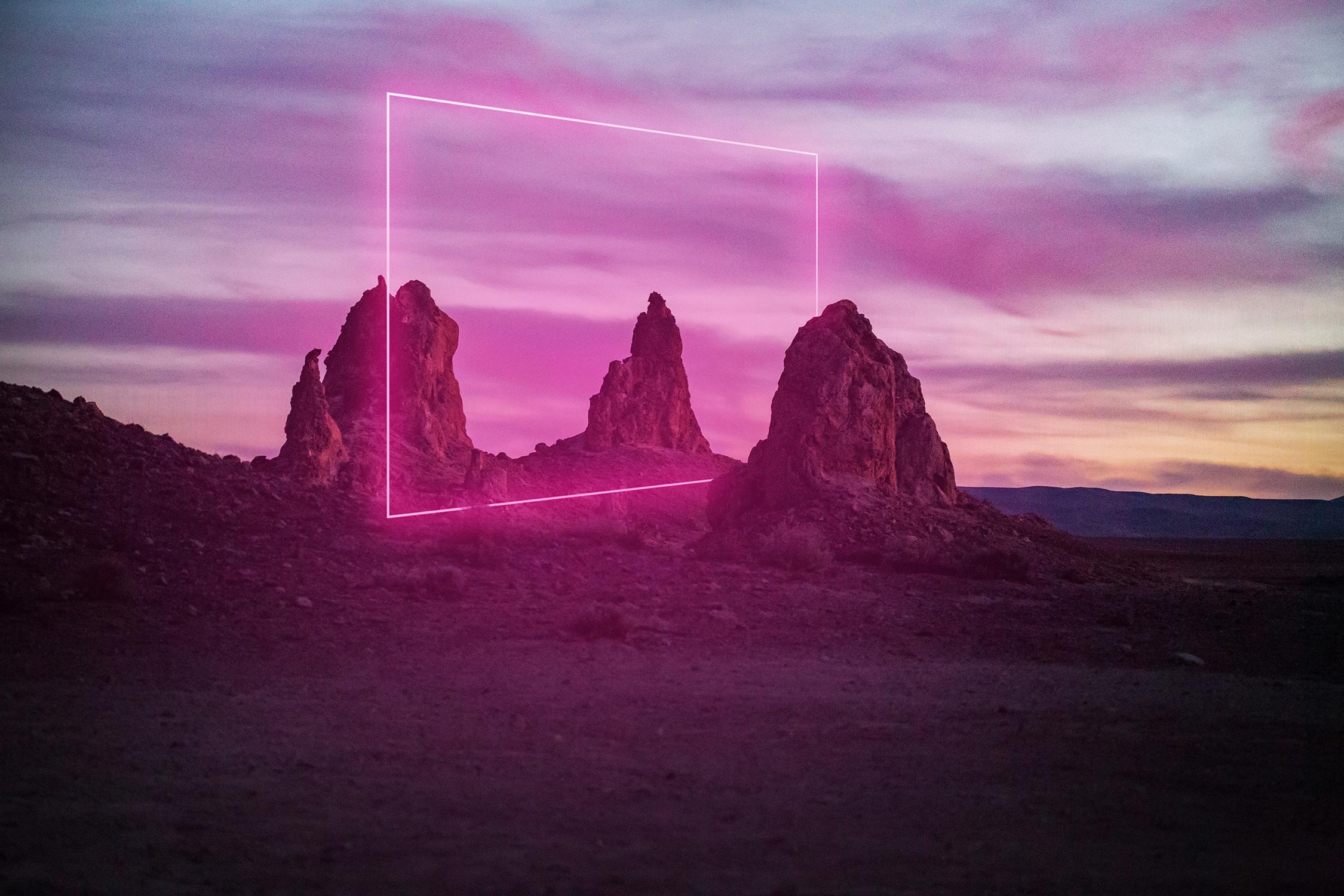 El Libro Amarillo Tendencias de Color Primavera 2021 Pastel-Neón portal galactico en el desierto