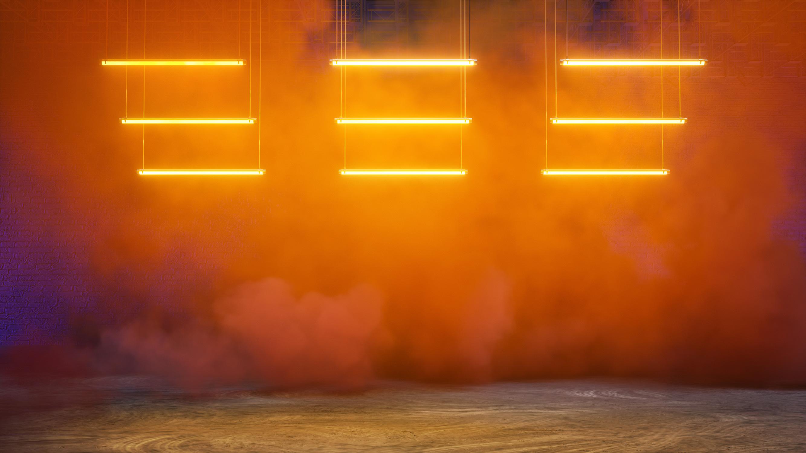 El Libro Amarillo Tendencias de Color Primavera 2021 Mandarina luces con humo