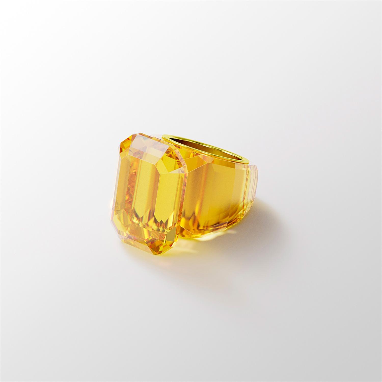 El Libro Amarillo Tendencias de Color Primavera 2021 Amarillo anillo con piedras preciosas